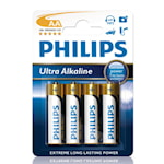 114605 Philips 4-pack Batterier AA Ultra Alkaline 1,5V