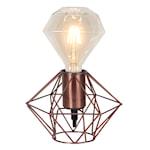 821917 Edge lamphållare metall koppar 17cm E27