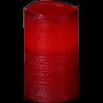 823772 LED vaxljus Presse röd 12,5cm med timer