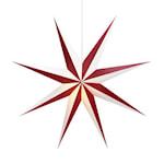 824494 Markslöjd pappersstjärna Alva vinröd-vit 75cm