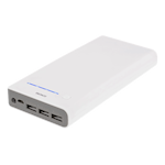 824065 Deltaco Power bank 20000mAh 3A, 3xUSB med ficklampa