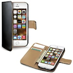 822084 Celly Wallet Case iPhone 5/5s/SE Svart