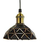 824416 Oriva fönsterlampa laserskruven svart-guld 15cm