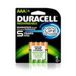 114604 Duracell batteri AAA 4-pack laddbart 1,2V 850mAh