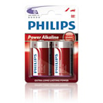 126104 Philips batteri D 2-pack Power Alkaline