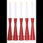 821554 Ljusstake Midja 5 ljus röd 42cm hög