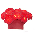 145306 Batterdriven LED ljusslinga 15 ljus röda rosor