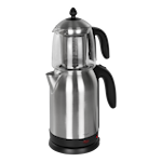 824720 NORDIC HOME CULTURE 2-i-1 Vattenkokare med tebryggare, 1,7L, rostfritt stål, silver