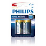 117103 Philips 2-pack Batterier C Ultra Alkaline 1,5V