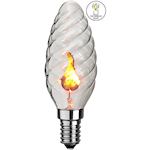 824573 Glödlampa fladdrande låga kronljus 3W E14