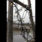 824538 Serie LED ljusslinga 120 ljus varmvit svart kabel 7m med 8 funktioner