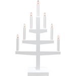 824497 Ljusstake Trapp 7 ljus vit 54 cm hög