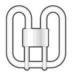 821461 Kompaktlysrör 16W 1100lm 3500K 2D 2-stift GR8