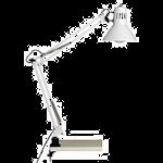 821475 Skrivbordslampa hobby vit 1x40W E27