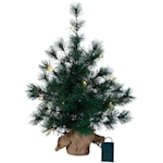 821688 Bordstall 60cm hög grön med ljusslinga 20 ljus