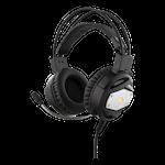 824579 Deltaco gaming headset med LED-belysning svart-silver