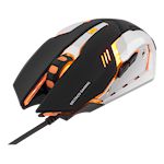 824578 Deltaco gaming spelmus optisk orange belysning 1000-3200DPI