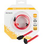 821378 SATA-kabel, rak - vinklad  0,5m svart röd