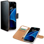 822097 Celly Wallet Case Galaxy S7 Svart/beige