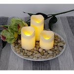 823682 LED blockljus Wave 3-pack 7,5cm, 6cm, 5cm