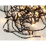 821490 Serie LED ljusslinga 16m, 160 ljus varmvit svart kabel IP44