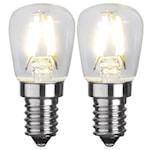 343214 Päronlampa LED 2p filament 1,3W 110lm 2700K E14