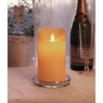 821616 Vaxljus Twinkle LED 15cm med timer champagne
