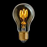 821982 Uni-flex LED gold normalform 3W 150lm 2000K dimbar E27