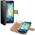 822094 Celly Wallet Case Galaxy A3 2016 Svart/Beige