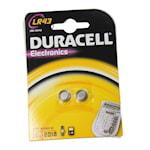 118906 Duracell 2-pack batteri alkaliskt LR43/B2 1,5V