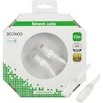 824374 Deltaco nätverkskabel CAT6 10m vit