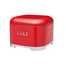 Förvaringsburk Stål Cake Röd 26x19 cm