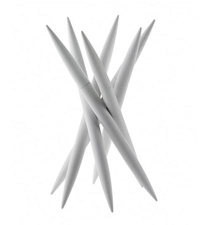 SPICY Knivställ med 6 st köttknivar Vit
