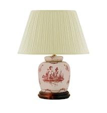 Lampfot, 17,5 cm, rosa änglar