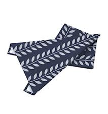 Handduk blå/grå leaves L70cm B