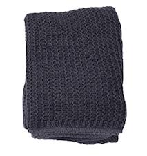 Pure knitted Pläd 130x170 - Blå