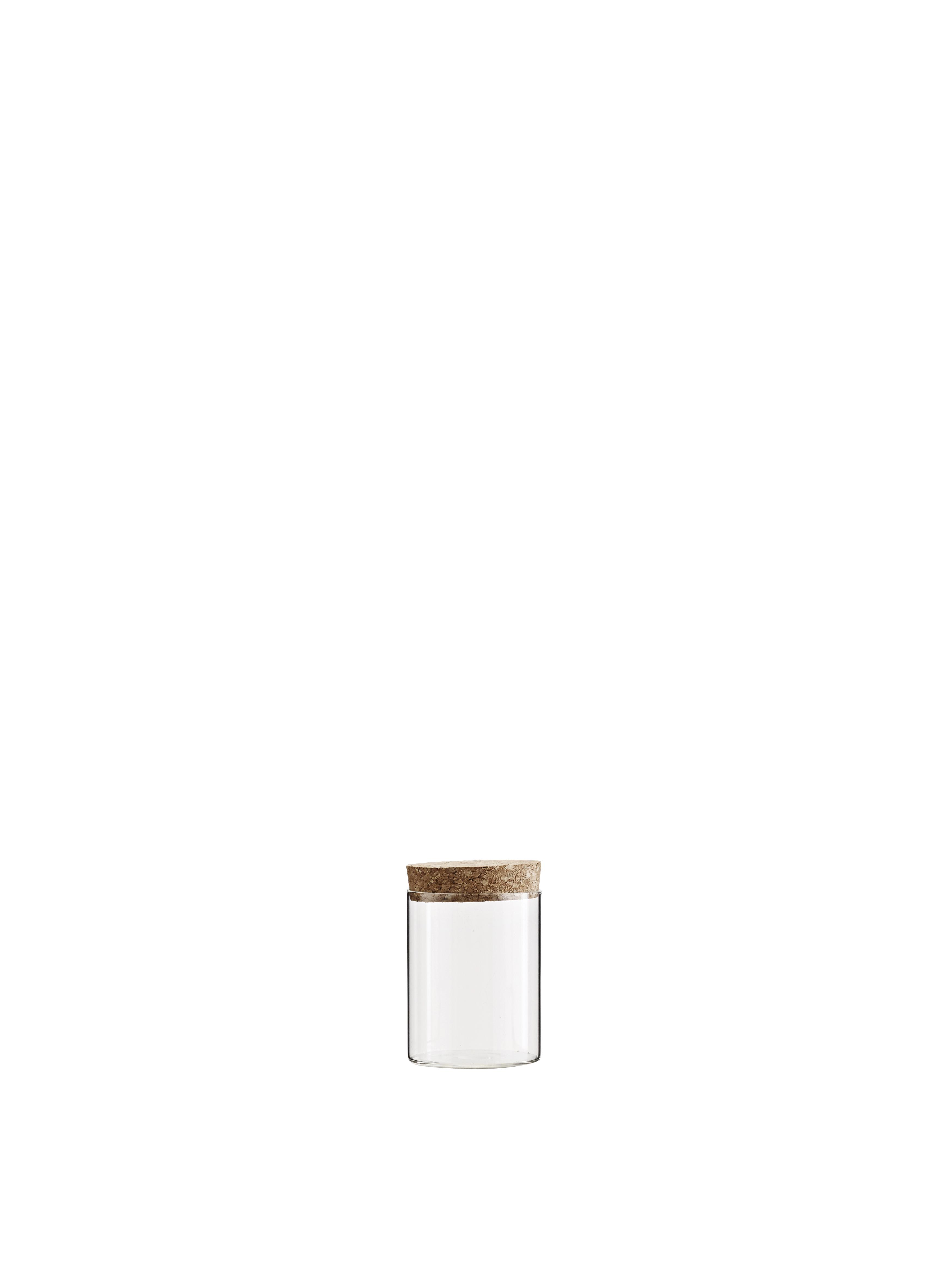 Glasburk med Korklock Ø 8 x H 11 cm