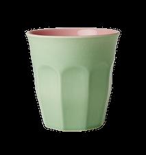 Mugg Tvåtonad Keramik Grön/Rosa