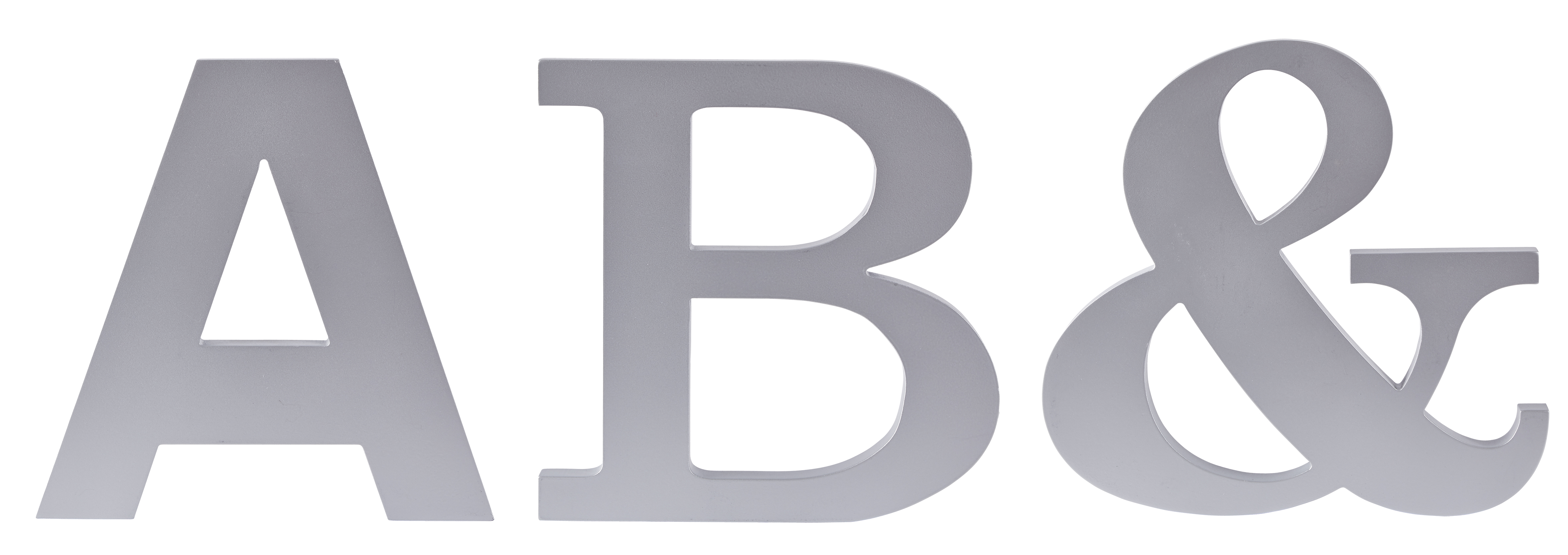 Figur Bokstav Silver 25 cm