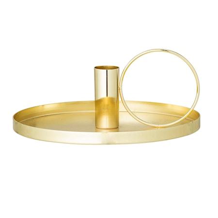 Bild av Bloomingville Ljusstake Guld Metall 19x8cm