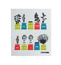 Persons Kjøkkenhåndduk Krydderskapmotiv Lime