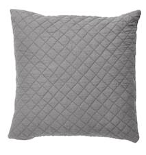 Kuddfodral Quilt 50x50 cm - Mörkgrå