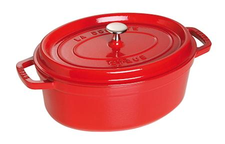 Staub Ovaali pata 29 cm punainen 4,2 L