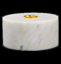 Lysestage Hvid marmor 5,5 cm Ø 10,5