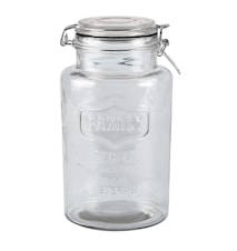 Oppbevaringskrukke m. låg - Glass - Klar - D 13,0cm - H 23,5cm - 2,00l