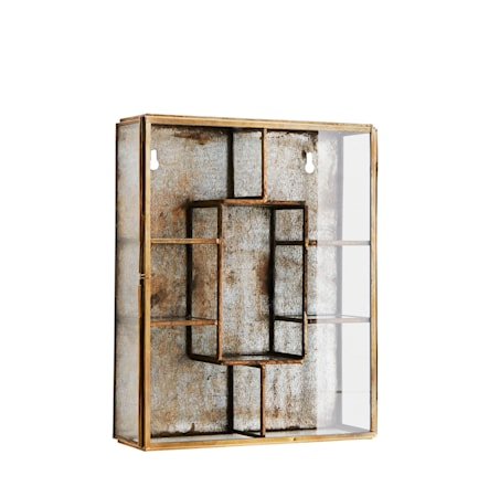 Vägghylla 21x6x26 cm - Mässing