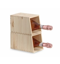 Cantinetta 1/2 bt- Presentlåda för 1 flaska + Vinställ för 2 flaskor