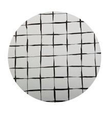 Bordskåner Birklaminat, tern, sort, rund 21cm diameter