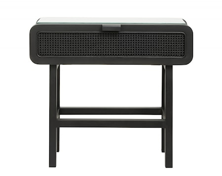 Konsolbord Teakträ Svart 90x35cm