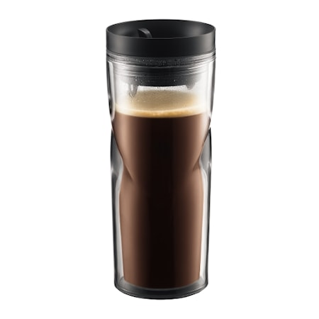 Take away mugg med lock 45 cl Svart